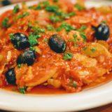 ポロ・アラ・カチャトーラは狩人風鶏肉のトマト煮込み