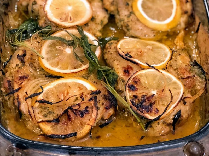 レモンとセージの鶏もも肉ベイク6