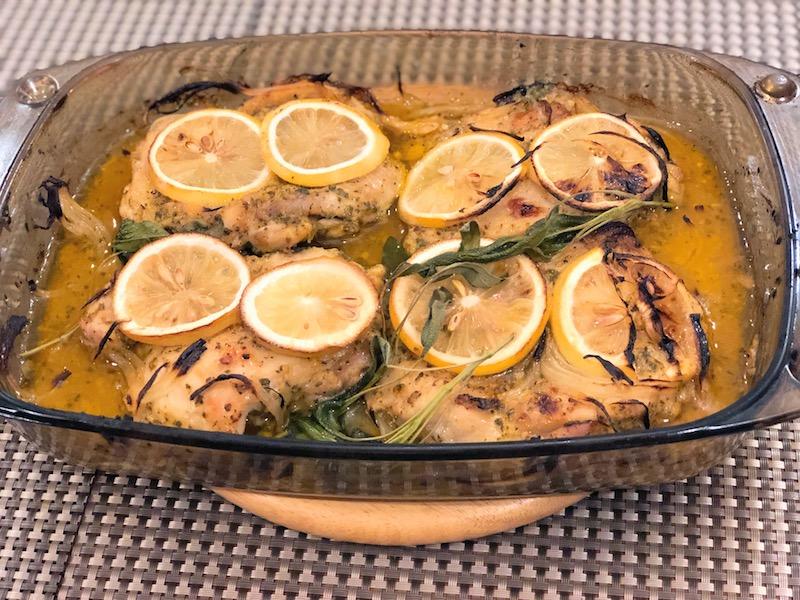 レモンとセージの鶏もも肉ベイク7