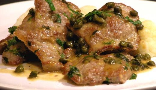フライパンで簡単に作れる本格的な仔牛肉のスカロッピーネ