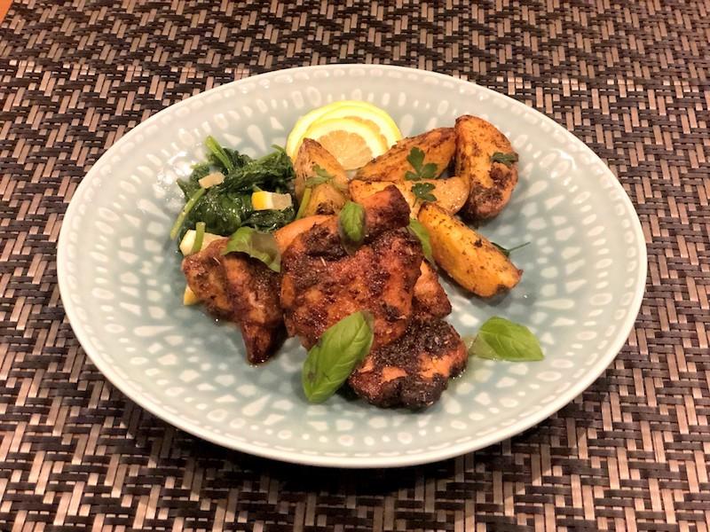 鶏もも肉とジャガイモの簡単ディナー