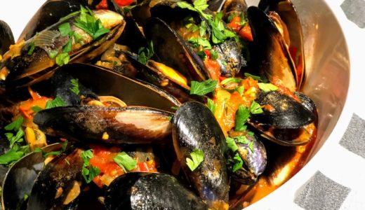下処理をしたら後は簡単、おいしいムール貝のチリトマトソース