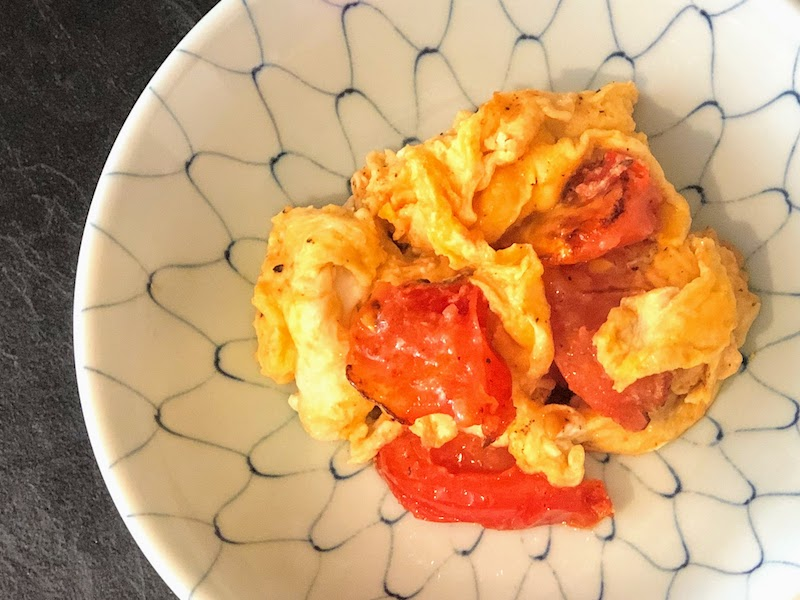 超スピード料理のトマトと卵の中華炒め