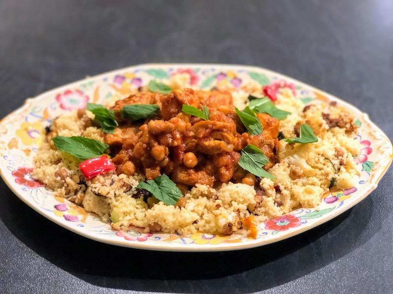 モロッコ風鶏もも肉とひよこ豆の煮込み