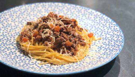 材料を吟味するだけで簡単にできる本格的なボロネーズスパゲッティー